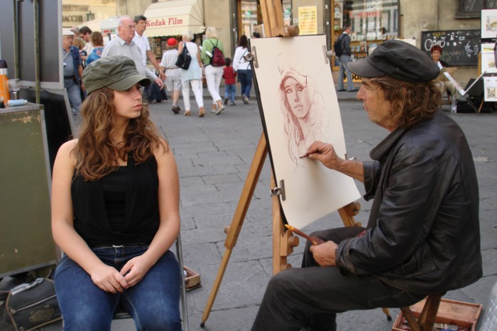 On a street of Florence