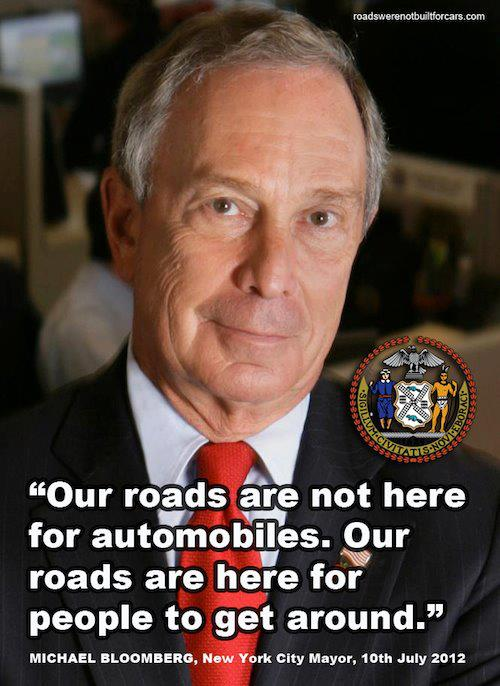 Our roads are not here for automobiles!