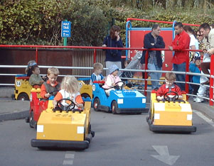 Danny and Howard in the lego cars
