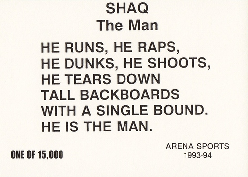 1993-94 Arena Sports Shaquille O'Neal (2)