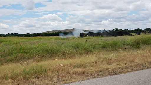 201806 17-20- (129) - 155mm Artillery shooting into the impact area atop of that mountain