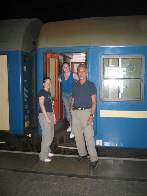 Time to leave Krackow, Poland and take a night train to BudaPest Hungary,,,  11 hours,,,  Sarah and Shevgn are going there too!!!