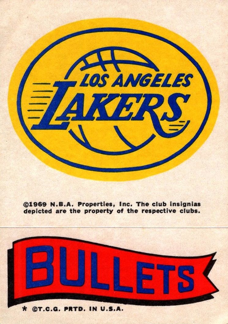 1973-74 Topps Stickers Lakers-Bullets