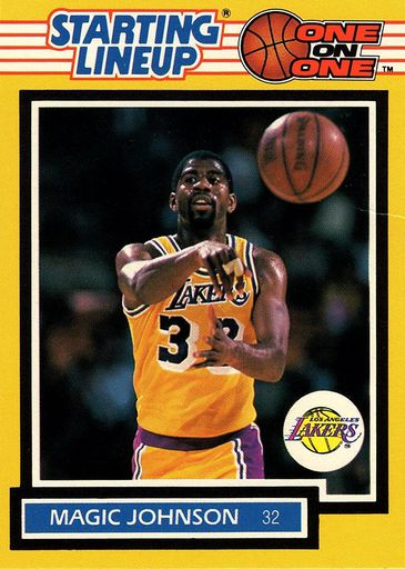 1989 Starting Lineup One on One Magic Johnson (1)