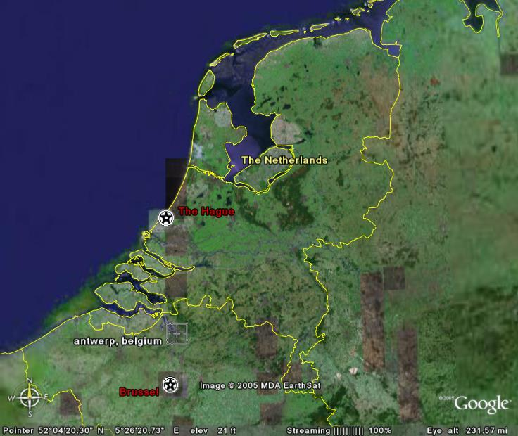 A general map of the Nederlands.  For a Virtual Tour click on the little globe and select Google Earth... Cheers!!! Gary