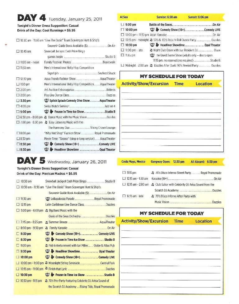 OASIS DAILY PLANNER PG3