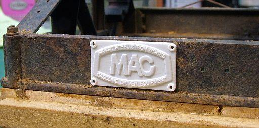 Builders plate as printed