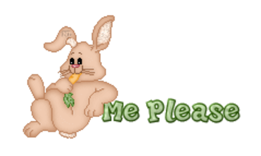 Me Please - BunnyWithCarrot