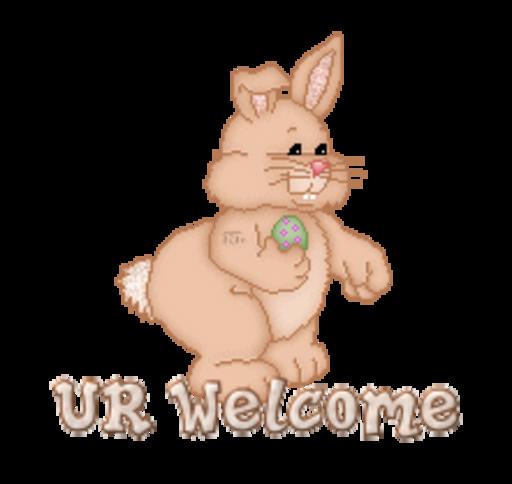 UR Welcome - BunnyWithEgg