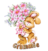 Grammie - BunnyWithFlowers