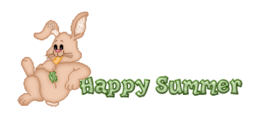 Happy Summer - BunnyWithCarrot