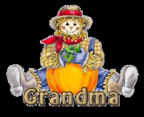 Grandma - AutumnScarecrowSitting
