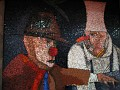 mosaic based on the designs of Emilio Tadini
