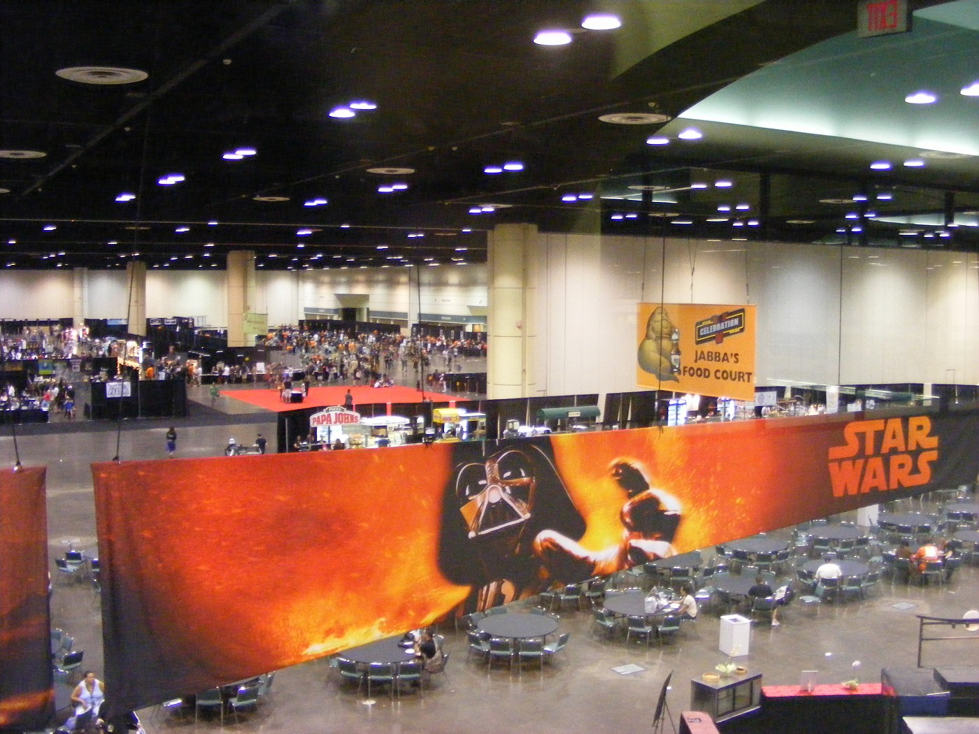 View of the dealer floor