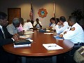The press and the Miami-Dade Fire rescue team