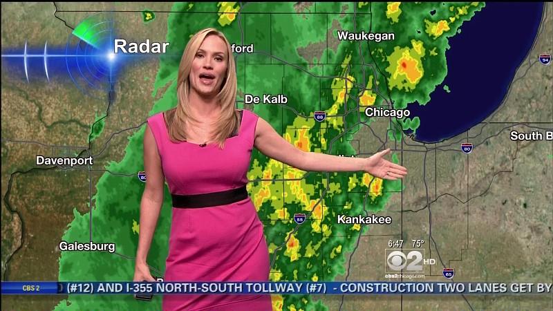 Megan Glaros Hot CBS Weather Girl (WBBM)