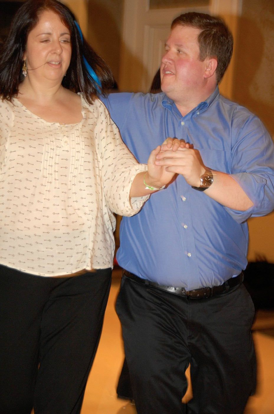 Darren Roeder dancing West Coast Swing Newcomer Jack and Jill at Swingin Into Spring