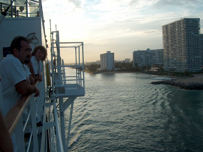 Leaving Port Everglades on a beautiful February evening