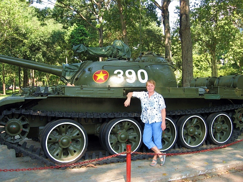 One of the Russian tanks that first crashed thru the gate in '75.