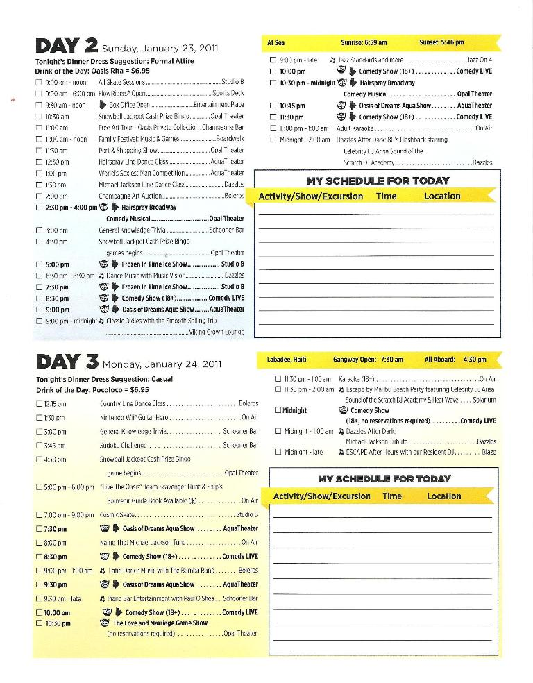 OASIS DAILY PLANNER PG2