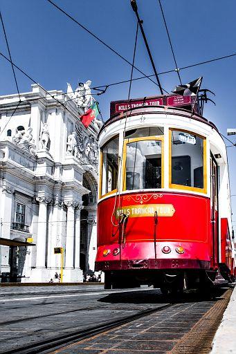 Tourist tram in Lisbon