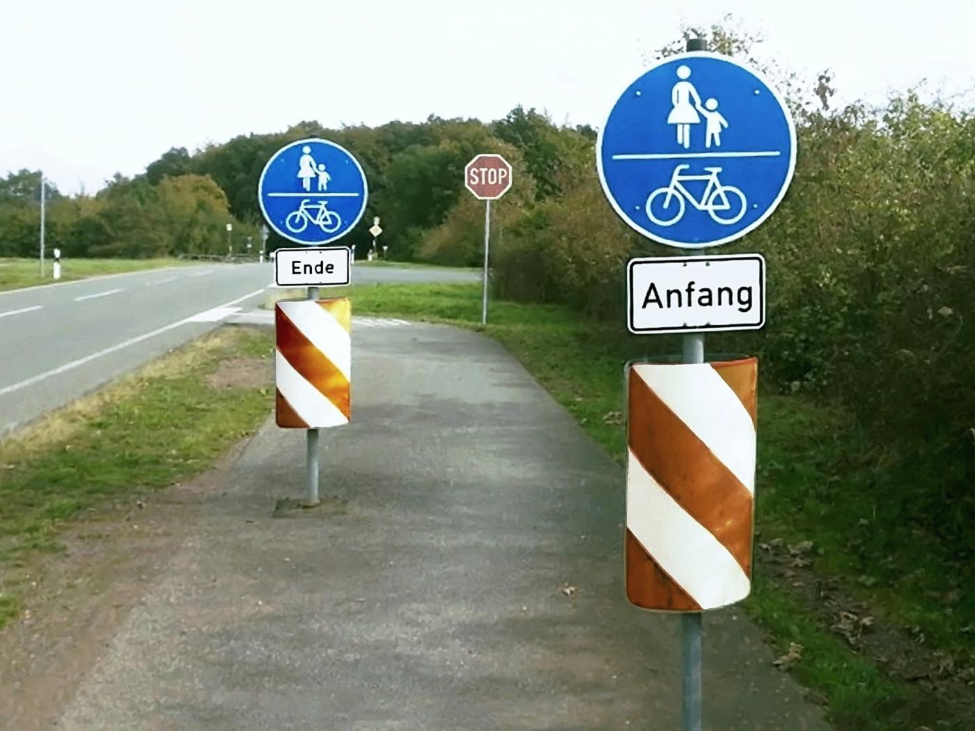 Der kürzeste Geh-/Radweg Deutschlands?