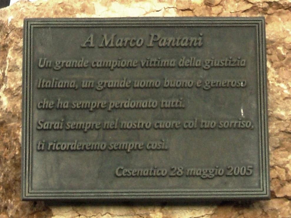 A Marco Pantani...  Sarai sempre nel nostro cuore ..