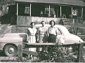 Mud Street-1. L-to-Right: Beulah White, Unknown?, Lucille White Brumett.