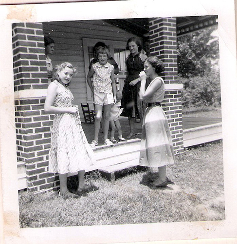 96-Great Grandma Della, Aunt Pat, Mom, Irene Chitwood, Imogene King-Laxton, and Unknowns