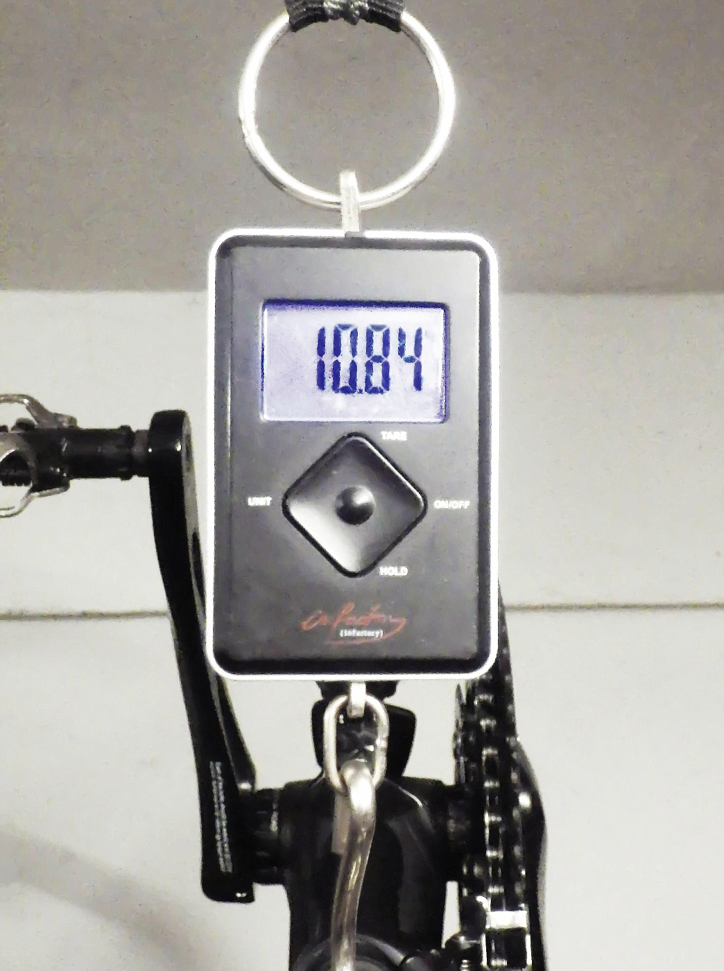Complete weight is less than 11 kg!